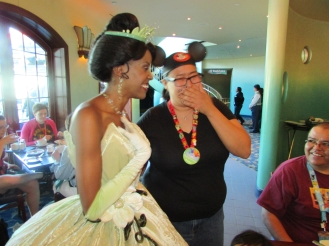 Lisa's dream comes true meeting Tiana